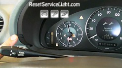 Reset service light indicator Mercedes CLK 320 2004