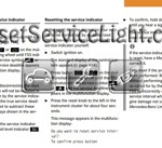 Reset service light indicator Mercedes CLK Class C208 manual