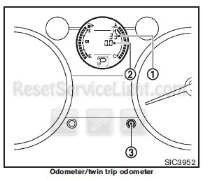 Reset service light indicator Nissan Rogue 2010
