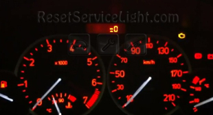 Reset spanner service light indicator Peugeot 206