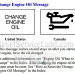 Change engine oil message Pontiac Montana