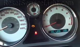 Reset oil life indicator Pontiac G5