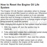 Reset oil service light Pontiac G3 manual