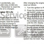 Reset oil service light Pontiac G5