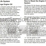 Reset oil service light Pontiac G6 2006-2010 manual