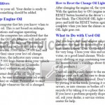 Reset oil service light Pontiac Grand AM 1999, 2000, 2001 manual
