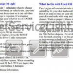 Reset oil service light Pontiac Grand AM 2002
