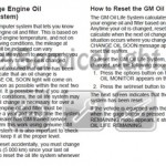 Reset oil service light Pontiac Grand Prix 2004-2008 manual