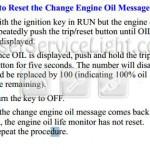 Reset oil service light Pontiac Montana first generation 1997-2009