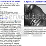 Reset oil service light Pontiac Montana first generation manual