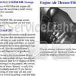 Reset oil service light Pontiac Montana second generation manual