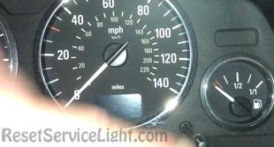 Reset service light indicator Opel Zafira A05