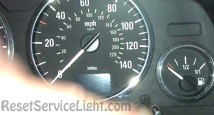 Reset service light indicator Opel Zafira F75