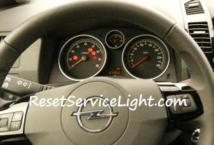 Reset service light indicator Opel Zafira P12