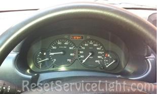 Reset service light indicator Peugeot Partner Platform