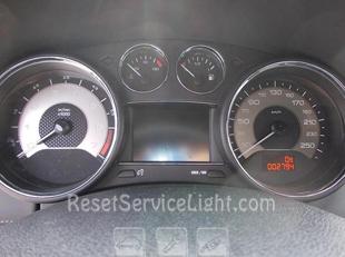 Reset service light indicator Peugeot RCZ