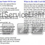 Reset oil service light Pontiac Aztek