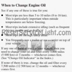 Reset oil service light Pontiac Bonneville ninth generation manual 1992-1995