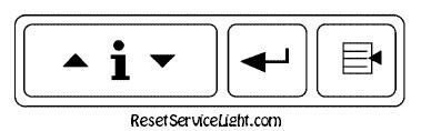 Reset oil service light Pontiac SV6 DIC buttons