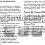 Reset oil service light Pontiac Wave manual