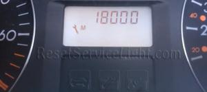 Reset service light indicator Renault Laguna spanner