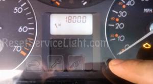 Reset service light indicator Renault Laguna