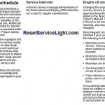 Reset oil service light Saab 9-5 manual
