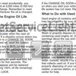 Reset oil service light Saturn Relay manual