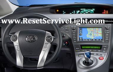 Reset oil service light indicator Toyota Prius third generation XW30