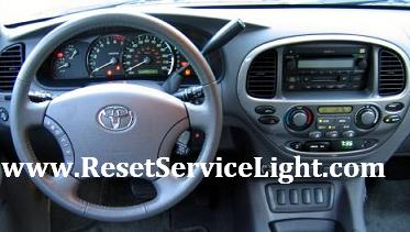 Reset oil service light indicator Toyota Sequoia first generation