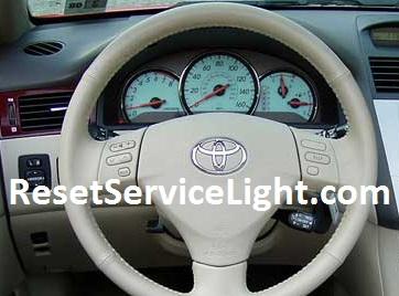 Reset oil service light indicator Toyota Solara second generation