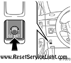 Reset tire pressure warning light Toyota Solara second generation