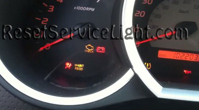 How To Reset The Maint Reqd Light A Toyota Ta a After