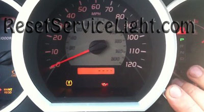 Reset maintenance required service light indicator Toyota Tundra second generation