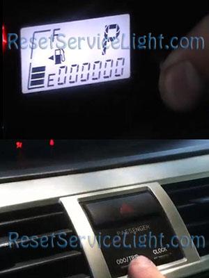 Reset odometer light Toyota Yaris