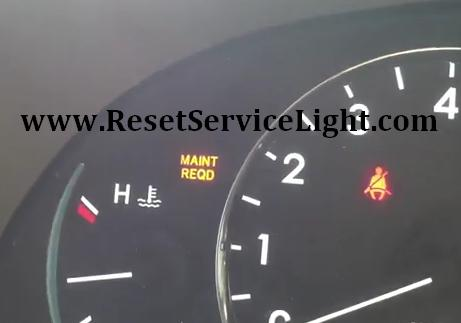 Toyota Sienna Maint Reqd Light Reset Maintenance Required