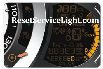Reset warning service light indicator Citroen C3 II