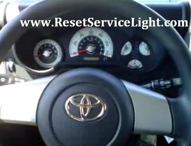 Reset oil maint reqd service light Toyota Land Cruiser