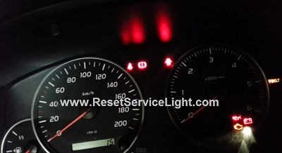 Reset T-Belt service light Toyota Land Cruiser J200 series