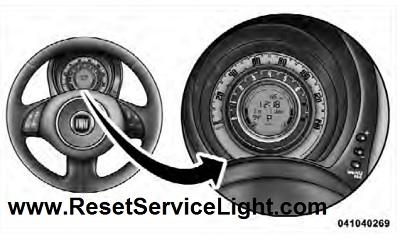 Reset trip odometer meter Fiat 500