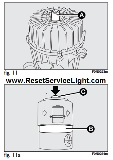 Reset air cleaner warning light Fiat Ducato III