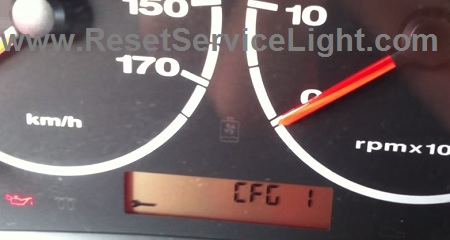 Reset key warning indicator Fiat Ducato