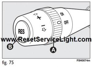 Reset restoring memorized speed Fiat Idea