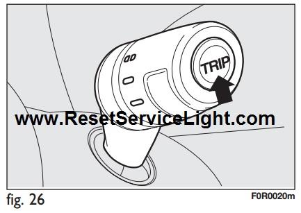 Reset trip computer Fiat Linea – Reset service light, reset