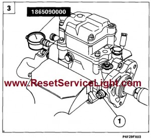 Refitting injection pump and adjusting timing Fiat Marea 96-07