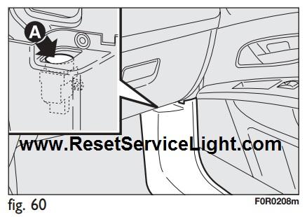 reset the fuel cutoff switch fiat linea 2007-2015