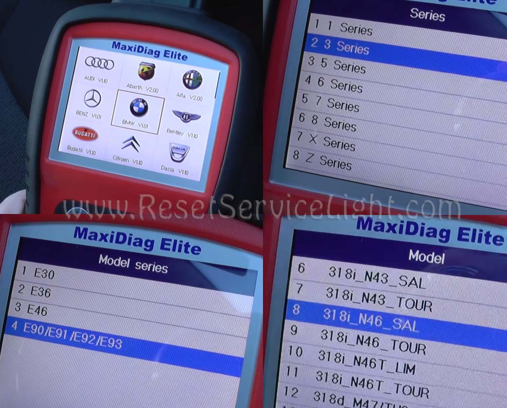 Reset MRS airbag light BMW E90 – Reset service light, reset oil life