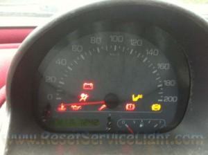 Reset service light indicator Fiat Multipla