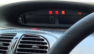 Turn off airbag indicator Citroen Xsara Picasso
