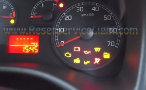 Reset airbag warning light Fiat Punto
